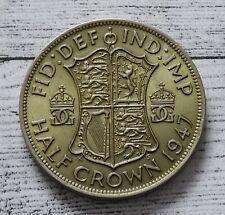 British Half Crown Coin~1947 George VI~Copper Nickel 14.13g~KM#866~XF/aUNC~#1201