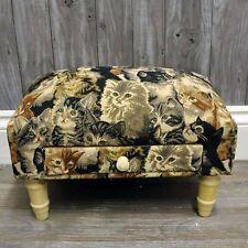 animal print ottomans footstools for