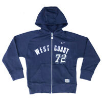 Nike Boys Hoodie/Hoody Nike Blue West Coast Fully Zipped Ages 7Y up to 15Y