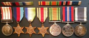 NAVAL GENERAL SERVICE MEDAL CLASP PALESTINE WW2 LONG SERVICE MEDAL & RIBBONS.