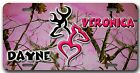 CUSTOM! Pink Camo Ultimate Deer Heart design with YOUR name - License Plate