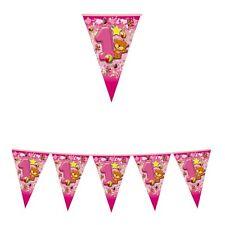 FESTONE BANDIERINE 1º COMPLEANNO Bimba 6 m Rosa Addobbi feste eventi