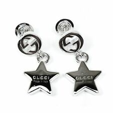 GUCCI EARRINGS Trademark with star pendant rhodium YBD356252001 ladies silver