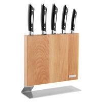 100% Genuine! SCANPAN Kattegat 6 Piece S/S Knife Block Set Oak! RRP $619.00!