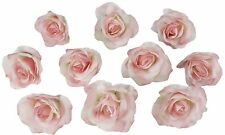 10 Pink Rose Heads Silk Flower Wedding/Reception Table Decorations (Large)