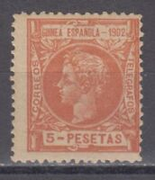 GUINEA (1902) NUEVO SIN FIJASELLOS MNH SPAIN - EDIFIL 8 (5 pts) ALFONSO XIII