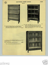 1932 PAPER AD Macey Sectional Book Case Cases Quartered Golden Oak 3 Styles