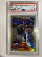2019-20 Hoops Premium Stock Tribute GOLD Pulsar ZION WILLIAMSON RC PSA 9