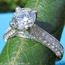 2.19 Ct Round Brilliant Cut Diamond Solitaire Engagement Ring 14ct White Gold
