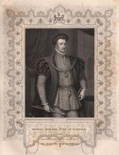 BRITISH HISTORY. Thomas Howard, Duke Of Norfolk. TALLIS 1853 old antique print