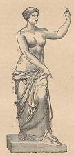 A4570 Afrodite di Melos - Incisione - Stampa Antica del 1887