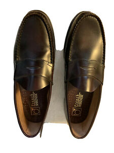Men's French Shriner Dark Cordovan Penny Loafers Size 14 Wide
