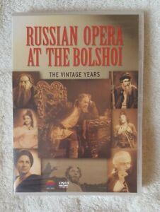 Russian Opera At The Bolshoi - Vintage Years DVD *New & Sealed* (Region 0)