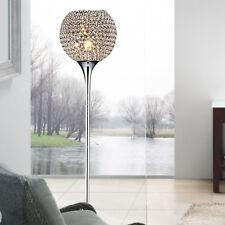 Modern Crystal Living Room Floor Lamp Gold/Silver Chrome Bedroom Floor Lights