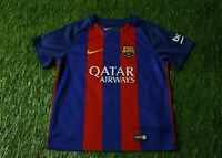 BARCELONA BARCA SPAIN 2016/2017 FOOTBALL SHIRT JERSEY HOME NIKE ORIGINAL KIDS M