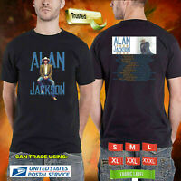 Limited Rare Alan Jackson The Tour 2020 Logo On Unisex Black T Shirt M-3XL