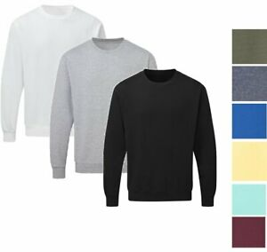 Men's Crewneck Fleece Long Sleeve Sweatshirt Midweight Premium Cotton Sweater