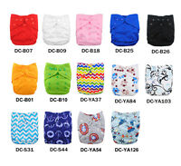 Waterproof Reusable PUL Baby Newborn Cloth Diaper Double Gussets Nappy Cover