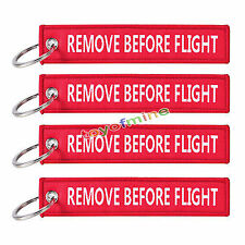 "PORTACHIAVI con ""Remove Before Flight"" - 5er PACK-NUOVO"