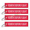 """PORTACHIAVI con """"Remove Before Flight"""" - 5er PACK-NUOVO"""