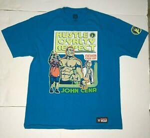 WWE John Cena Never Give Up / U Can't C Me Back Print T-Shirt Mens Size Large