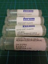 4 x FORUM Maschinenreibahle DIN212 R-N; B Ø2,00; H7; NEU & OVP
