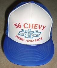 CHEVROLET 56 CHEVY HAT VINTAGE '55 '56 '57 CLASSIC CHEVY CLUB TRUCKERS CAP