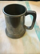 Vintage Knighthood Old English Pewter Glass Bottom Tankard