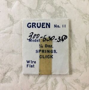 Vintage Authentic Gruen watch Click Spring to 280 300 301 327 329 350 520 NOS
