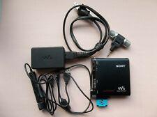 Sony Mz-Nh1 Net Md Hi-Md Walkman Minidisc Player Recorder with accessories.