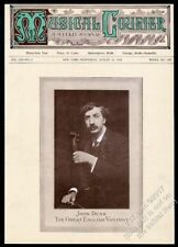 1910 John Dunn photo with violin Musical Courier framing cover