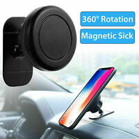 Universal 360° Magnetic Car Mount Cell Phone Holder Dashboard Stands For iP F6E1