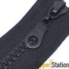 2 way Chunky Open Ended Zip Zippers Plastic Teeth - Black, Navy, Grey (CH2WAY)
