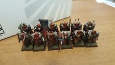WARHAMMER - CAOS WARRIORS -PLASTIC   -  VERY WELL PAINTED - (12 PZ)