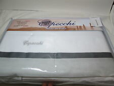 New CAPECCHI Home Linens ITALY Queen Sheet Set  ~ Black, Grey and White NIP