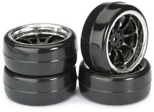 "Set Ruota RC auto drift ha parlato"" 9 LP/B ""Profile Nero/Cromato 1:10 (4 PZ) tt-01"
