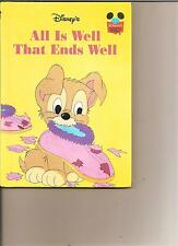 DISNEYS ALL IS WELL THAT ENDS WELL BOOK KIDS DISNEY SCAMP FROM LADY AND TRAMP