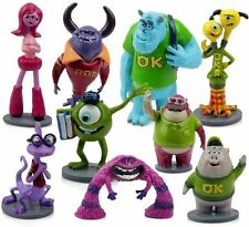 Pixar Monsters Inc. University Deluxe Figure Figurine Play Set 10pc NEW UK