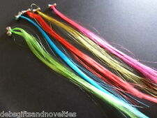 Bulk Lot 100 Fluro Hair Extensions ( 10 Packs Of 10)  Kids & Teens