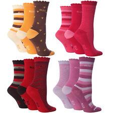 7-10 Years 6 Pairs Girls Designer Elle Ankle Socks Brown//Oat YE04 Size 12-3 Uk