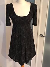 French Connection Smart Black & Silver Dress – size 8