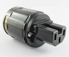 1 x High Quality Pure Copper C-029 US Power Female IEC Connector for Audio Black
