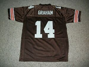 OTTO GRAHAM Unsigned Custom Cleveland Brown Sewn Football Jersey Sizes S-3XL