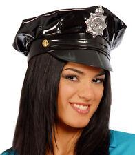 Cappello da POLIZIOTTO o POLIZIOTTA in vinile con stemma centrale