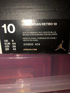 Nike Air Jordan Retro 10 X LA City Pack Midnight Navy OG Los Angeles Size 10