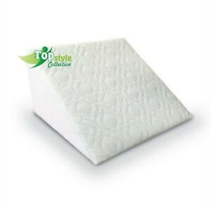 Large Acid Reflux Flex Foam Support Bed Wedge Pillow Removable Zip Quilted Cover