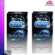 Durex Condoms, Extra Time - 10 Count love sex with long lasting pleasure AND FUN