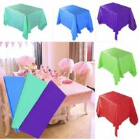 Colorful Rectangle Tablecloth Table Cover Satin for Banquet Wedding Party Decor