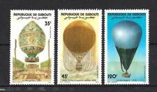 Ballons et Dirigeables Djibouti (40) série complète de 3 timbres neufs**