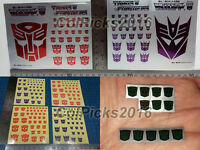 Transformers G1 Autobots/Decepticons Logo Symbol Decal/Thermal Rub Sign Sticker
